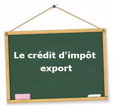 le crédit d'impôt export