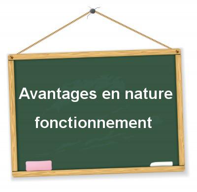 fonctionnement des avantages en nature et évaluation