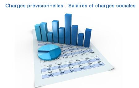 charges prévisionnelles, salaires et charges sociales