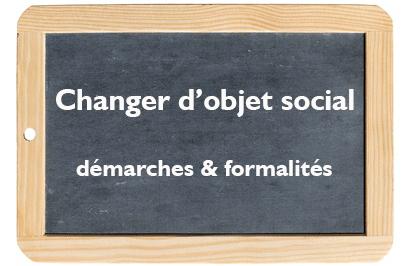 changement d'objet social